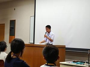 受講生代表挨拶(有明高専会場・中学生の部)