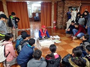 阿蘇火山博物館での演示実験
