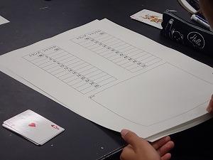 トランプマジックトランプの枚数と完全シャッフルの回数の表