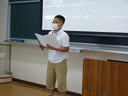挨拶をする受講生代表(小学生)